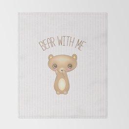 Bear With Me - Creepy Cute Teddy Throw Blanket