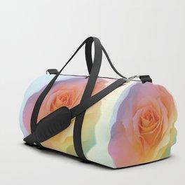 Rainbow rose of joy Duffle Bag