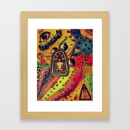 Spread the color Framed Art Print