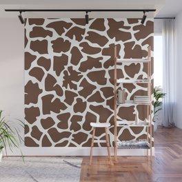Animal Print (Giraffe Pattern) - Brown White Wall Mural