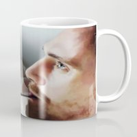 tom hiddleston Mugs featuring Tom Hiddleston by Kate Dunn