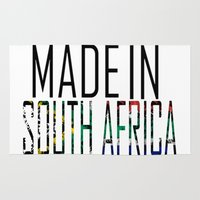 south africa Area & Throw Rugs featuring Made In South Africa by VirgoSpice