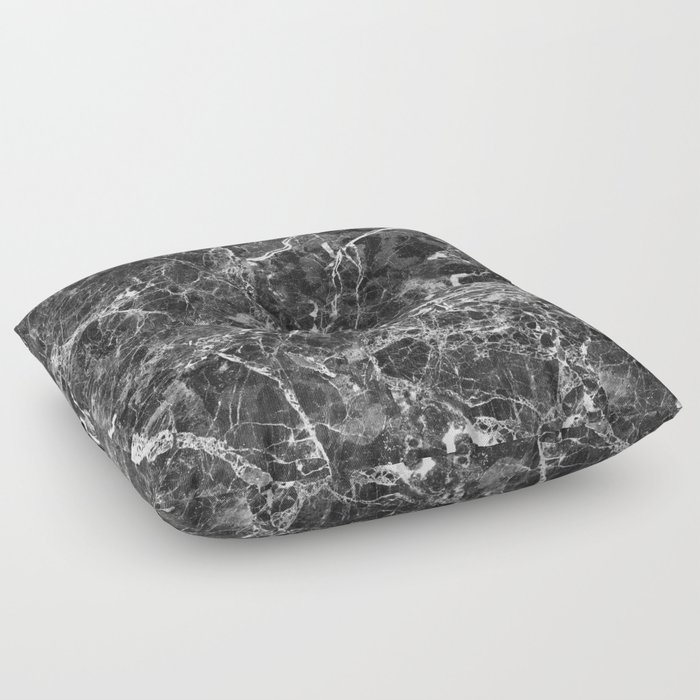 Emprador monochrome marble splash Floor Pillow