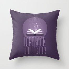 Lorebook Collector Throw Pillow