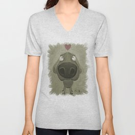 Weimaraner Love - Grey Unisex V-Neck