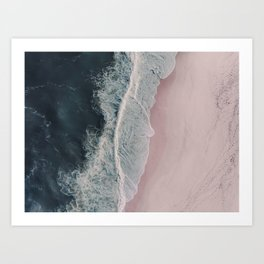 Sands of Cameo Pink Art Print