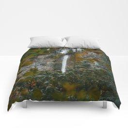 Multnomah Falls Autumn Comforters