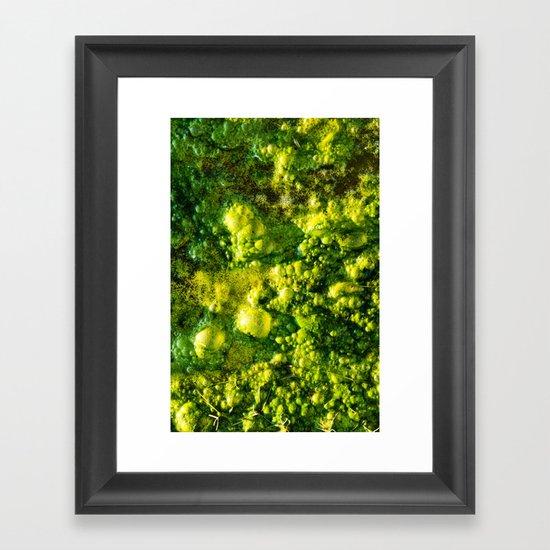 The Green Goo Framed Art Print