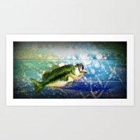 bass Art Prints featuring Bass by Christina Miller