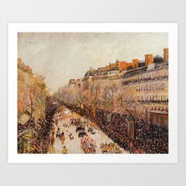 Mardi Gras On The Boulevards 1897 By Camille Pissarro | Reproduction | Impressionism Painter Art Print