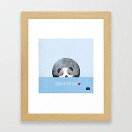 Panda for your love Framed Art Print
