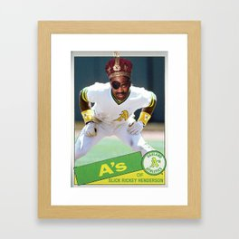 Slick Rickey Henderson Framed Art Print