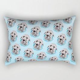 Irish Wolfhound Print Rectangular Pillow