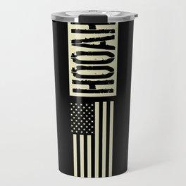 Hooah (Black Flag) Travel Mug