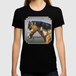 Native American Buckskin Pinto War Horse T-shirt