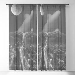 strip down Sheer Curtain