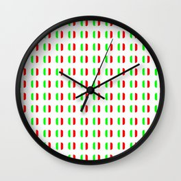 Flag of Italy - with soft square Wall Clock