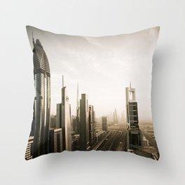Dubai sky line. Futuristic Cityscape. Throw Pillow