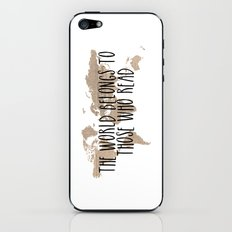 The World Belongs to those Who Read - Old Paper iPhone & iPod Skin