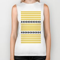 striped Biker Tanks featuring Striped by Mariana Nabas
