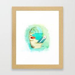 Mitten Beach Framed Art Print