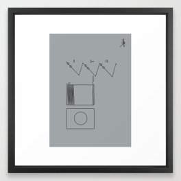 Voyager Golden Record Fig. 2 (Gray) Framed Art Print