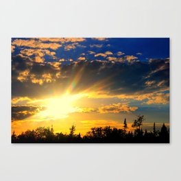 Summer Sunset on Lake Willoughby Canvas Print