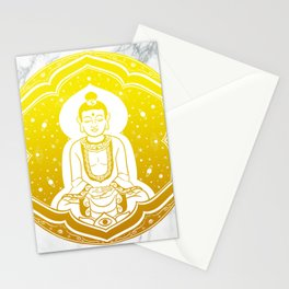 Buda Gautama, Siddharta Gautama, Sakiamuni (yellow) Stationery Cards