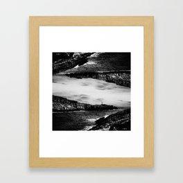 Let me collide Framed Art Print