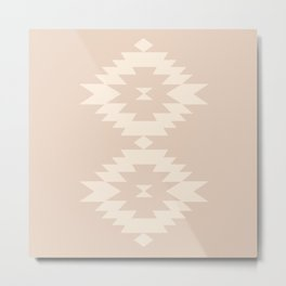 Southwestern Minimalism - Soft Pink Metal Print