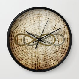 Double Infinity Silver Gold antique Wall Clock