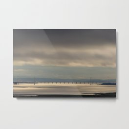 Severn Bridge Sundown Metal Print