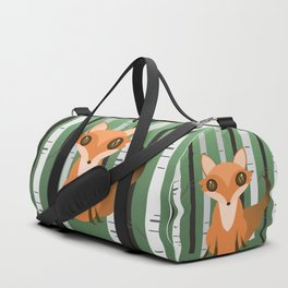 A fox in the woods Duffle Bag