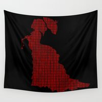 victorian Wall Tapestries featuring VICTORIAN WOMAN by Caio Trindade