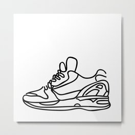 Sneakers Outline #1 Metal Print