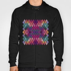 Watercolor Geometric Pattern Hoody