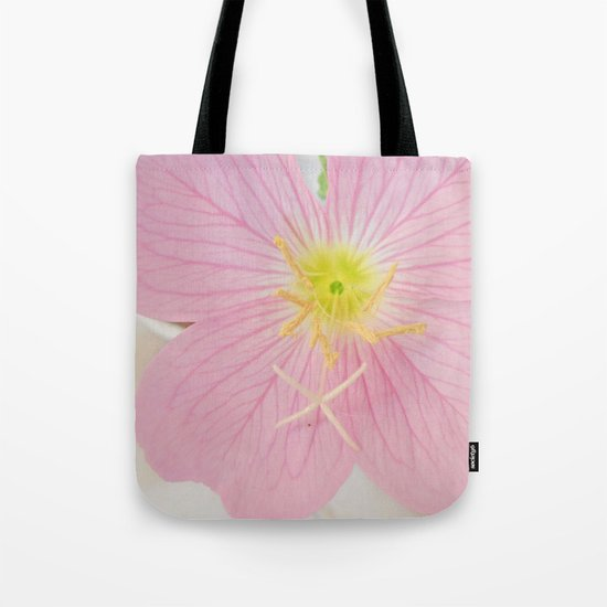 Close-up Oenothera Speciosa Tote Bag