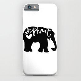 Elephant Love - Silhouette iPhone Case