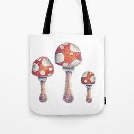 Fire Mushroom Tote Bag