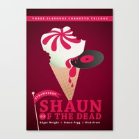 shaun of the dead Canvas Prints featuring Shaun of the Dead by ellis