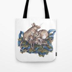 Mice and skulls Tote Bag