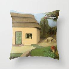 Lago de la arboleda Throw Pillow