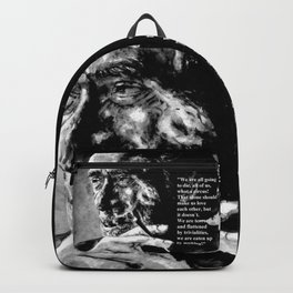Charles Bukowski - black - quote Backpack