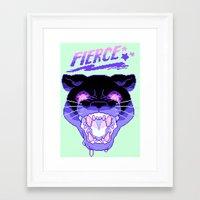fierce Framed Art Prints featuring FIERCE by Ginseng&Honey