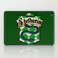 slytherin iPad Cases featuring Slytherin Crest by AriesNamarie