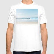 California Surfing MEDIUM Mens Fitted Tee White