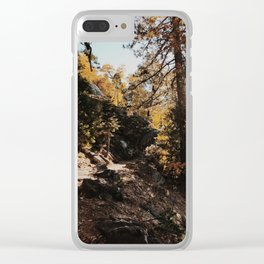 Fall in the Mountains Clear iPhone Case