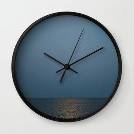 Moonlit Lake Wall Clock