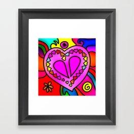 Colorful Modern Love Framed Art Print