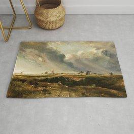 John Constable - Windmills in landscape Rug